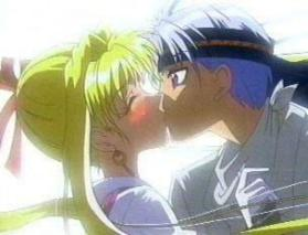 Kaitou Jeanne and Sinbad, cherishing the kiss